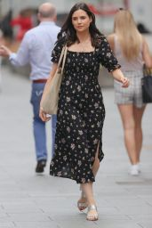 Lilah Parsons in Floral Maxi Dress - London 06/11/2021