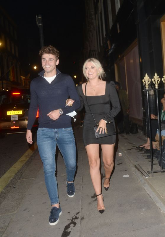 Lucy Fallon and Ryan Ledson - MKNY HSE Restaurant in London 06/10/2021
