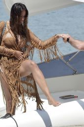 Madalina Ghenea in a Bikini on a Yacht in Portofino 06/01/2021