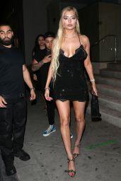 Mandana Bolourchi in a Black Mini Dress - Catch LA in West Hollywood 06/13/2021