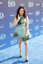 """Mary Mouser - Pixar´s """"Luca"""" Premiere in Los Angeles 06/17/2021"""