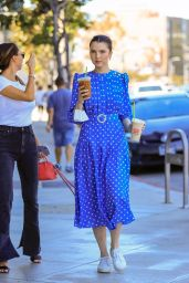 Maya Henry in a Blue Dress - Out in West Hollywood 06/14/2021
