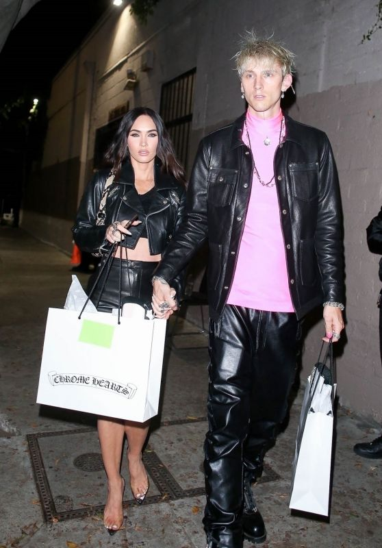 Megan Fox and MGK at Chrome Hearts in Hollywood 06/10/2021