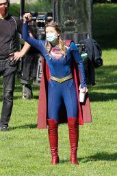 "Melissa Benoist - Final season of ""Supergirl"" Filming Set in Vancouver 06/08/2021"