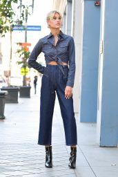 Meredith Mickelson Wears Denim-on-Denim - Photoshoot in LA 06/07/2021