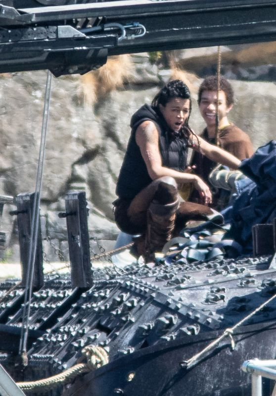 """Michelle Rodriguez - """"Dungeons and Dragons"""" Film Epic Filming Set in Northern Ireland 06/28/2021"""