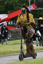 """Michelle Rodriguez - """"Dungeons And Dragons"""" Set at Carrickfergus Castle in Ireland 06/26/2021"""
