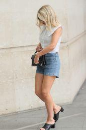 Mollie King in Stylish Top and Daisy Duke Shorts - London 06/06/2021