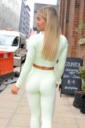 Molly Smith in Pastel Green Gym Wear - Manchester City 06/22/2021