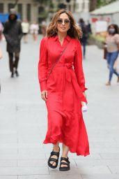 Myleene Klass in a Long Red Dress - London 06/11/2021