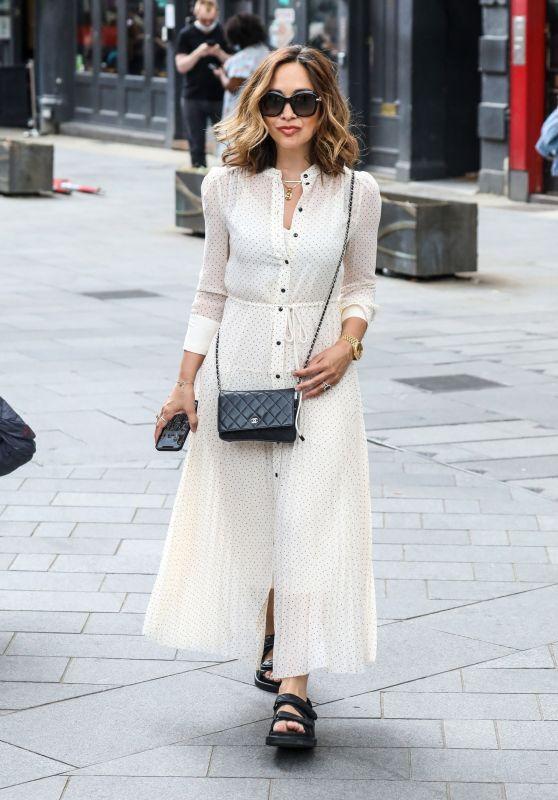 Myleene Klass in a Polka Dot Dress - London 06/26/2021