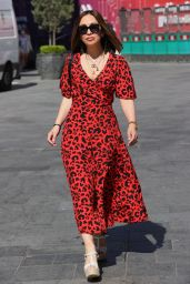 Myleene Klass in an Animal Print Maxi Dress in London 06/01/2021