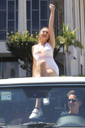 Nicolette Gray at the Free Britney Spears Rally at Stanley Mosk Courthouse in LA 06/23/2021