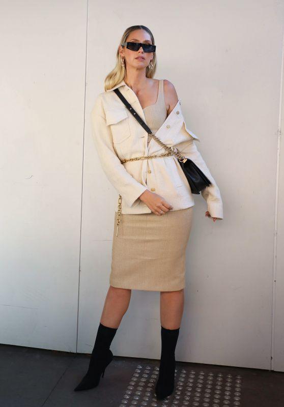 Nikki Phillips at Afterpay Australian Fashion Week Street Style in Sydney 06/02/2021