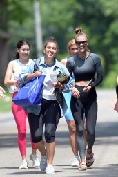 Nina Agdal in Workout Gear - New York 06/19/2021
