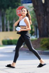 Olivia Culpo in Workout Outfit - West Hollywood 06/29/2021