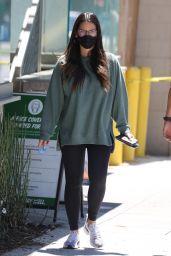 Olivia Munn in a Comfy Sweatshirt and Leggings - Santa Monica 06/14/2021