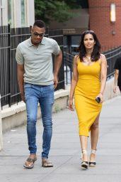 Padma Lakshmi in a Yellow Dress - New York 06/19/2021