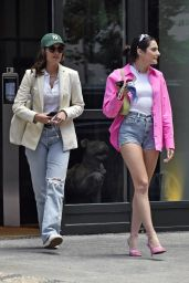 Paige DeSorbo Leggy in Shorts - New York 06/23/2021