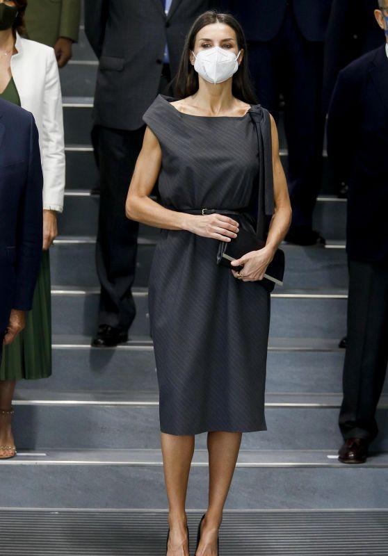 Queen Letizia of Spain at Mutua Madrilena Headquarters 06/02/2021