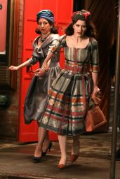 """Rachel Brosnahan and Marin Hinkle - """"The Marvelous Mrs Maisel"""" Set in the West Village 06/01/2021"""
