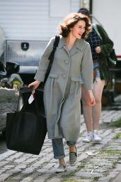 Rachel Brosnahan - Leaving Set in New York 06/25/2021
