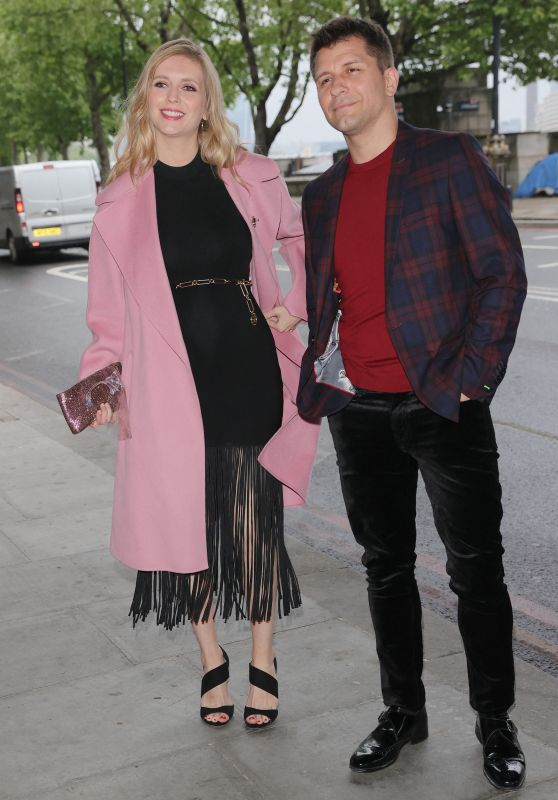 Rachel Riley at Cabaret All Stars With husband Pasha Kovalev in London 06/04/2021