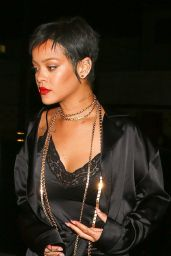 Rihanna Night Out Style - Delilah Nightclub in West Hollywood 06/06/2021