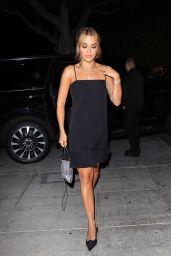 Rita Ora in a Black Dress - Matsuhisa in LA 06/23/2021