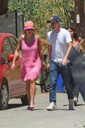 Rita Ora in a Pink Prada Dress - Los Angeles 06/24/2021