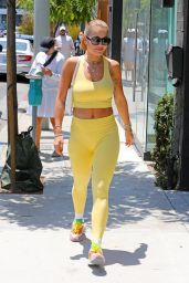 Rita Ora in a Yellow Outfit in Los Angeles 06/02/2021