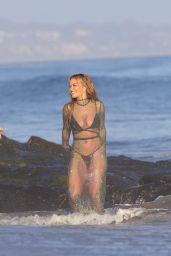 Rita Ora - Recording Music Video on the Beach in Malibu 06/27/2021