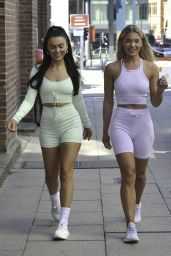 Rosie Williams and Molly Smith at the Botee Fitness Event in Manchester 06/16/2021