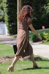 Rumer Willis in a Cute Polka Dot Dress 06/21/2021