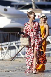 Sophie Hermann in a Red and Cherry Bikini in Ibiza 06/08/2021