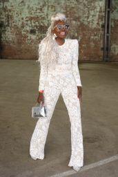 Suzan Mutesi at Afterpay Australian Fashion Week Street Style in Sydney 06/02/2021