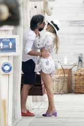 Sylvie Meis and Niclas Castello at Club 55 in St-Tropez 06/02/2021