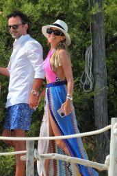 Sylvie Meis in a Vintage Swimsuit in Saint Tropez 06/11/2021
