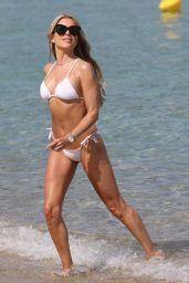 Sylvie Meis in a White Bikini in Saint Tropez 06/06/2021