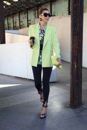 Tanja Gacic at Afterpay Australian Fashion Week Street Style in Sydney 06/02/2021