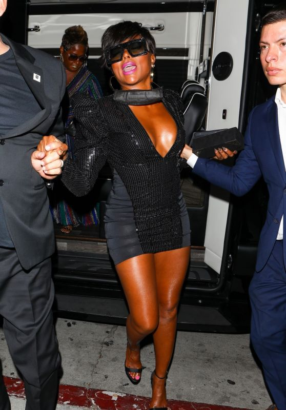 Taraji P. Henson Night Out Style - BOA Steakhouse in Hollywood 06/27/2021