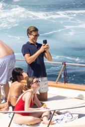 Taylor Hill in a Yellow Bikini - Positano 06/27/2021