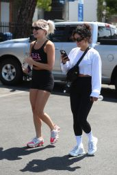 Vanessa Hudgens at DogPound Gym in West Hollywood 06/28/2021