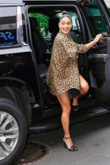 """Vanessa Hudgens in a Leopard Print Dress - """"Asking For It"""" Screening at the Tribeca Festival"""