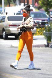 Vanessa Hudgens in Bright Orange Leggings - Lowes in LA 06/01/2021