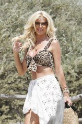 Victoria Silvsted at the club 55 Beach in Saint-Tropez 06/27/2021