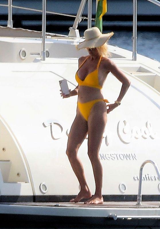 Victoria Silvstedt in a Bikini on a Luxury Yacht in Monaco 06/28/2021