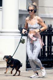Vogue Williams - Out For a Jog in Chelsea, London 06/22/2021
