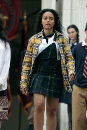 "Whitney Peak – ""Gossip Girl"" Reboot Filming Set in New York 06/08/2021"