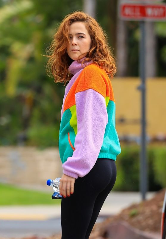 Zoey Deutch in a Colorful Outfit - Los Angeles 06/08/2021